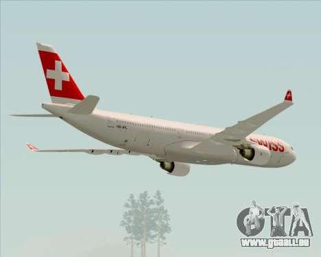 Airbus A330-300X Swiss International Air Lines pour GTA San Andreas moteur