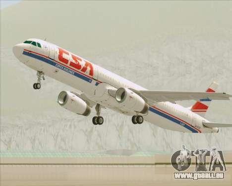 Airbus A321-200 CSA Czech Airlines für GTA San Andreas Räder