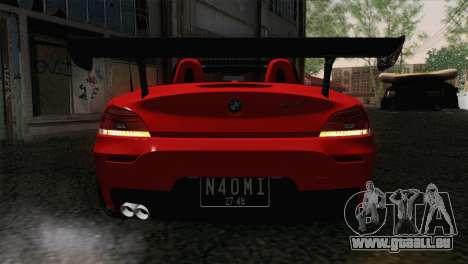 BMW Z4 sDrive28i 2012 Racing pour GTA San Andreas vue arrière