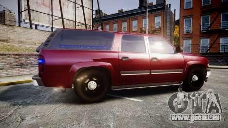 Chevrolet Suburban Undercover 2003 Black Rims für GTA 4 linke Ansicht