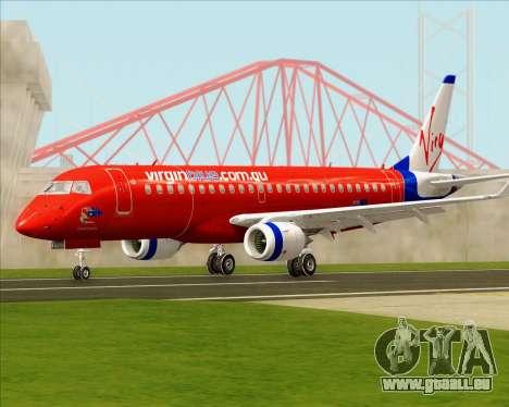 Embraer E-190 Virgin Blue pour GTA San Andreas laissé vue