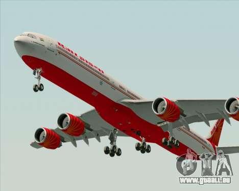 Airbus A340-600 Air India für GTA San Andreas rechten Ansicht