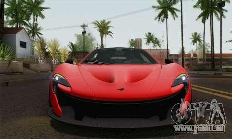 McLaren P1 HQ für GTA San Andreas Rückansicht