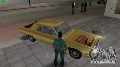 Dodge 330 Max Wedge Ramcharger 1963 für GTA Vice City obere Ansicht