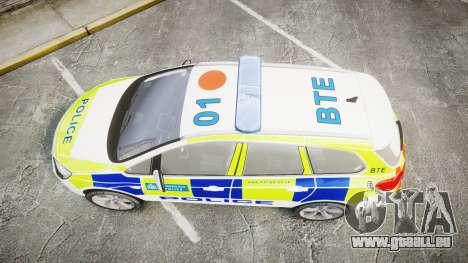 Vauxhall Astra Estate Metropolitan Police [ELS] für GTA 4 rechte Ansicht