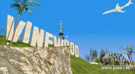 Buckingham Shamal GTA V für GTA San Andreas Rückansicht