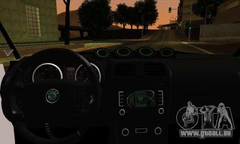 Skoda Fabia RS pour GTA San Andreas sur la vue arrière gauche