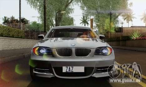 BMW 135i 2009 pour GTA San Andreas vue de droite