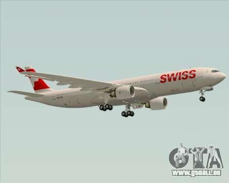 Airbus A330-300X Swiss International Air Lines pour GTA San Andreas vue de dessus