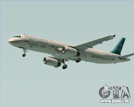 Airbus A321-200 Hansung Airlines für GTA San Andreas linke Ansicht