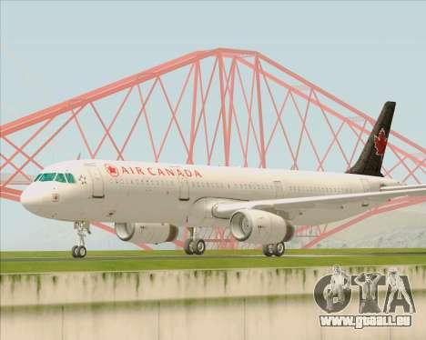 Airbus A321-200 Air Canada pour GTA San Andreas laissé vue