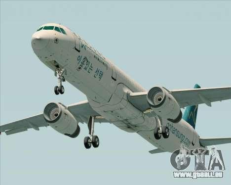 Airbus A321-200 Hansung Airlines für GTA San Andreas rechten Ansicht