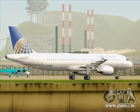 Airbus A320-232 United Airlines für GTA San Andreas Rückansicht
