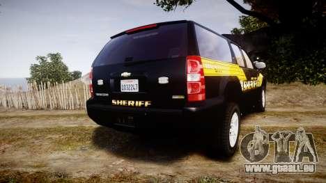 Chevrolet Suburban [ELS] Rims1 pour GTA 4 Vue arrière de la gauche