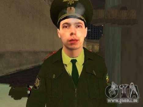 Lieutenant Sokolov pour GTA San Andreas troisième écran