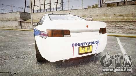 GTA V Cheval Fugitive LS Liberty Police [ELS] Sl pour GTA 4 Vue arrière de la gauche