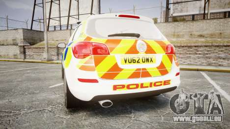 Vauxhall Astra Estate Metropolitan Police [ELS] pour GTA 4 Vue arrière de la gauche