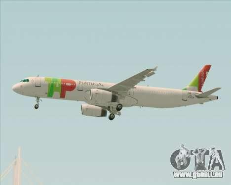Airbus A321-200 TAP Portugal für GTA San Andreas obere Ansicht