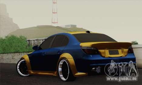 BMW M5 E60 Lumma pour GTA San Andreas laissé vue