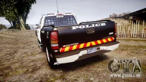 Chevrolet Silverado SWAT [ELS] pour GTA 4 Vue arrière de la gauche