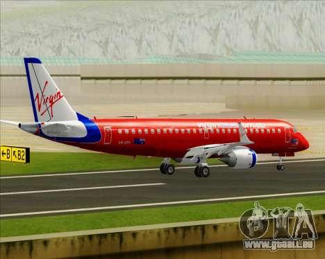 Embraer E-190 Virgin Blue für GTA San Andreas Unteransicht