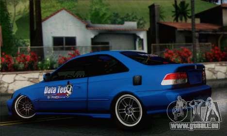 Honda Civic Si 1999 pour GTA San Andreas laissé vue