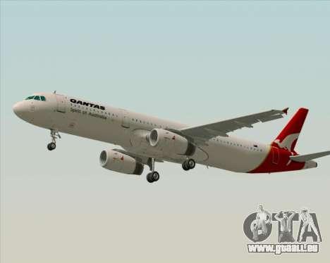 Airbus A321-200 Qantas für GTA San Andreas Innenansicht