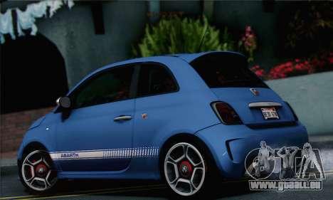 Fiat 500 Abarth 2008 pour GTA San Andreas laissé vue