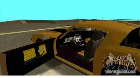 Chevrolet Camaro Z28 Bumblebee pour GTA San Andreas sur la vue arrière gauche