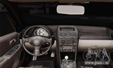 Lexus IS300 Hellaflush für GTA San Andreas zurück linke Ansicht