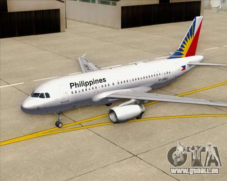 Airbus A319-112 Philippine Airlines für GTA San Andreas Motor