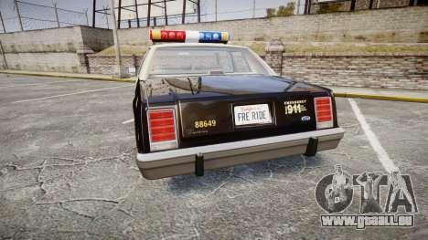 Ford LTD Crown Victoria 1987 LAPD [ELS] pour GTA 4 Vue arrière de la gauche