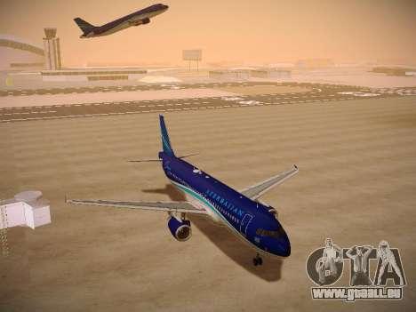 Airbus A320-214 Azerbaijan Airlines AZAL pour GTA San Andreas vue arrière