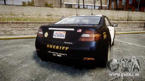 GTA V Vapid Interceptor LSS Black [ELS] Slicktop für GTA 4 hinten links Ansicht