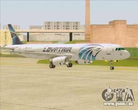 Airbus A321-200 EgyptAir für GTA San Andreas obere Ansicht