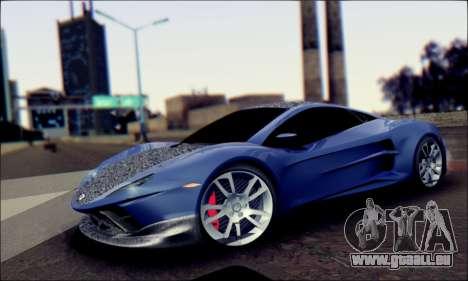 Shimmy Python 2012 für GTA San Andreas zurück linke Ansicht