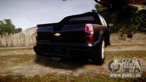 Chevrolet Avalanche 2008 Undercover [ELS] pour GTA 4 Vue arrière de la gauche