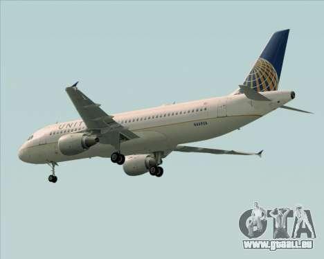 Airbus A320-232 United Airlines für GTA San Andreas Seitenansicht