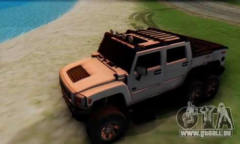 Hummer H6 Sut Pickup für GTA San Andreas Seitenansicht