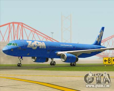 Airbus A321-200 Zoom Airlines für GTA San Andreas linke Ansicht