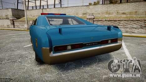 Imponte Dukes Police pour GTA 4 Vue arrière de la gauche