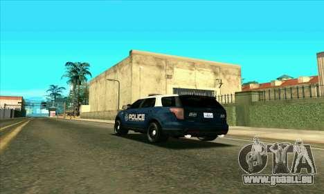 FCPD Ford Explorer 2013 pour GTA San Andreas laissé vue