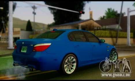 BMW M5 E60 2006 pour GTA San Andreas laissé vue