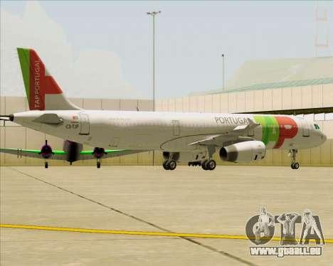 Airbus A321-200 TAP Portugal für GTA San Andreas Räder