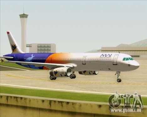 Airbus A321-200 Myanmar Airways International für GTA San Andreas Rückansicht
