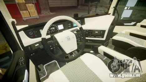 Volvo FH16 pour GTA 4 Vue arrière