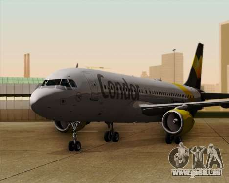 Airbus A320-212 Condor für GTA San Andreas Unteransicht
