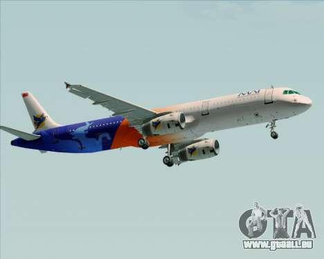 Airbus A321-200 Myanmar Airways International für GTA San Andreas zurück linke Ansicht