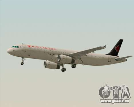 Airbus A321-200 Air Canada für GTA San Andreas Rückansicht