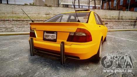 Karin Sultan Taxi pour GTA 4 Vue arrière de la gauche